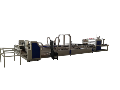 Auto Carton Folder Gluer with Strapper Machine